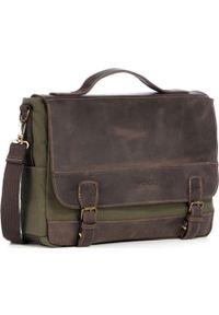 Zielona torba na laptopa KEMER