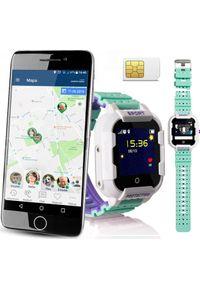 Zielony zegarek CALMEAN smartwatch, sportowy