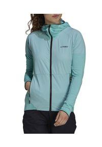 Adidas - Kurtka polarowa damska adidas Terrex Skyclimb Fleece GI7195. Typ kołnierza: kaptur. Materiał: polar. Sport: kolarstwo, wspinaczka, turystyka piesza