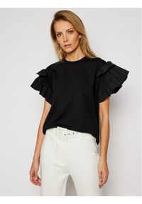 Czarny t-shirt Victoria Victoria Beckham