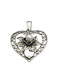 Polcarat Design - Wisiorek srebrny W 1142 z perłą hodowlaną. Materiał: srebrne. Kolor: srebrny. Wzór: aplikacja. Kamień szlachetny: perła