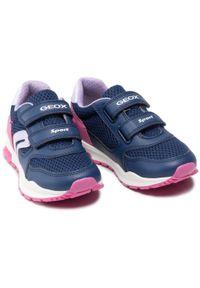 Geox - Sneakersy GEOX - J Pavel J048CA 01454 C4268 S Navy/Fuchsia. Okazja: na spacer, na co dzień. Zapięcie: rzepy. Kolor: niebieski. Materiał: skóra ekologiczna, skóra, materiał. Szerokość cholewki: normalna. Styl: casual