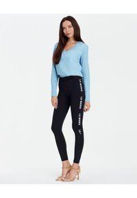 Czarne legginsy LA MANIA z aplikacjami, klasyczne