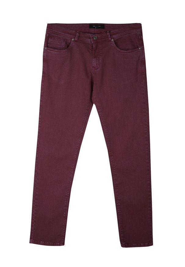 Czerwone spodnie TOP SECRET na co dzień, długie, klasyczne