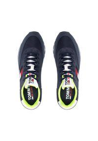 Tommy Jeans Sneakersy Retro Tjm Mix Pop Runner EM0EM00725 Granatowy. Kolor: niebieski
