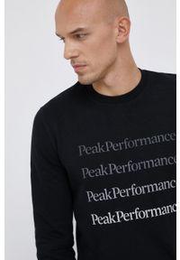 Peak Performance - Bluza. Okazja: na co dzień. Kolor: czarny. Materiał: bawełna. Styl: casual