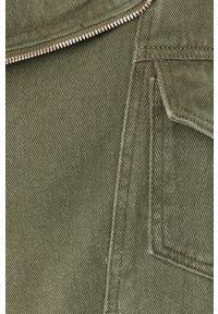 Zielona kurtka Answear Lab bez kaptura, wakacyjna