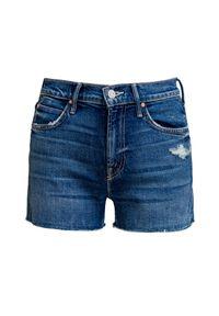 Mother - Szorty MOTHER THE DUTCHIE FRAY. Materiał: jeans, denim, elastan. Styl: wakacyjny