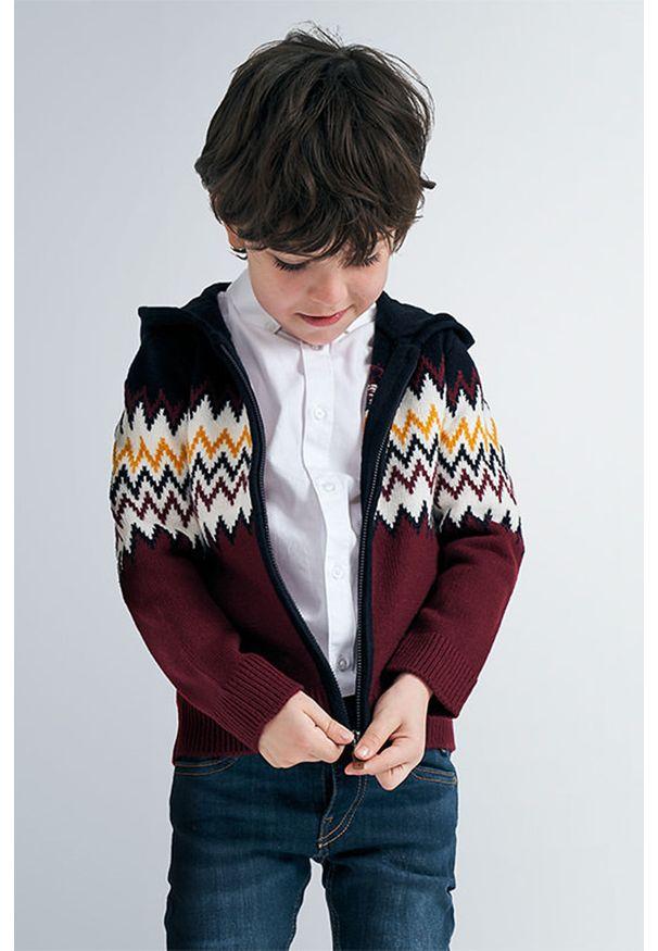 Brązowy sweter Mayoral casualowy, z kapturem, na co dzień