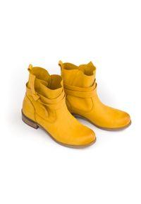 Botki Zapato z okrągłym noskiem, w kolorowe wzory, klasyczne, na co dzień