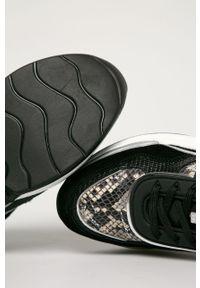 Czarne buty sportowe Karl Lagerfeld z cholewką, na sznurówki