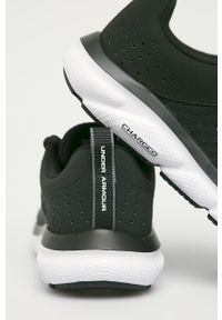 Czarne buty sportowe Under Armour z cholewką, na sznurówki, na fitness i siłownię, z okrągłym noskiem