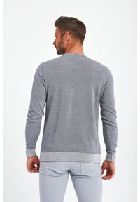 Trussardi Jeans - SWETER TRUSSARDI. Okazja: na co dzień. Wzór: melanż, haft. Styl: casual