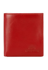 Wittchen - mały skórzany portfel damski. Materiał: skóra