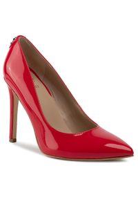 Czerwone półbuty Guess eleganckie, z cholewką