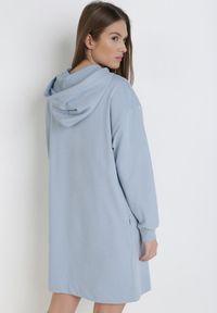 Born2be - Jasnoniebieska Sukienka Morgarea. Kolor: niebieski