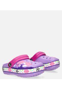 Casu - fioletowe klapki basenowe z ozdobą casu 8897cc. Kolor: fioletowy. Wzór: aplikacja
