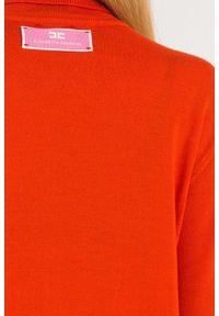 Sweter Elisabetta Franchi w kolorowe wzory, z golfem