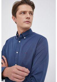 TOMMY HILFIGER - Tommy Hilfiger - Koszula bawełniana. Okazja: na co dzień. Typ kołnierza: button down. Kolor: niebieski. Materiał: bawełna. Wzór: gładki. Styl: casual