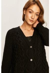 Czarny sweter rozpinany Stefanel
