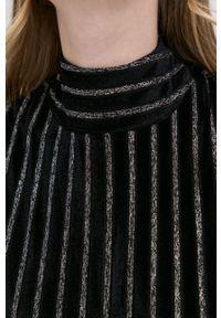 Silvian Heach - Top. Kolor: czarny. Materiał: welur, dzianina, materiał