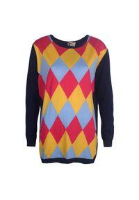 Sweter Toy G na co dzień, w geometryczne wzory