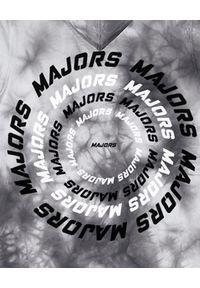 MAJORS - Szara bluza z kapturem BLUNTED. Typ kołnierza: kaptur. Kolor: szary. Materiał: dresówka, bawełna. Wzór: napisy, nadruk