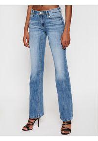 Guess Jeansy Super Stretch W1RA58 D4B11 Niebieski Slim Fit. Kolor: niebieski