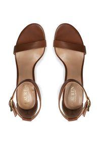 Brązowe sandały Lauren Ralph Lauren