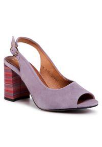 Fioletowe sandały Maciejka