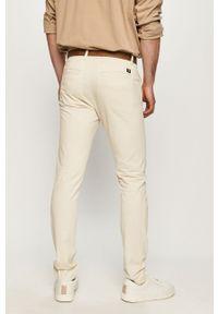Kremowe spodnie Tom Tailor gładkie