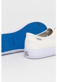 Element - Tenisówki. Nosek buta: okrągły. Zapięcie: sznurówki. Kolor: beżowy. Materiał: bawełna, guma. Styl: klasyczny