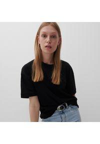 Reserved - T-shirt z bawełny organicznej - Czarny. Kolor: czarny. Materiał: bawełna