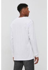Vans - Longsleeve. Kolor: biały. Materiał: dzianina. Długość rękawa: długi rękaw