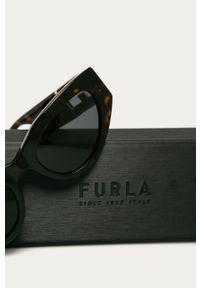 Czarne okulary przeciwsłoneczne Furla