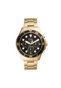 Złoty zegarek Fossil biznesowy