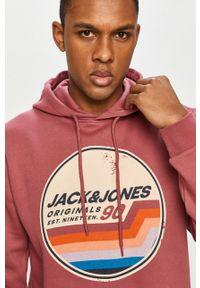 Bluza nierozpinana Jack & Jones casualowa, na co dzień, z kapturem, z nadrukiem