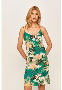 Zielona sukienka Vila prosta, w kwiaty, na co dzień