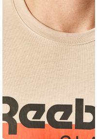 T-shirt Reebok Classic casualowy, z okrągłym kołnierzem, z nadrukiem, na co dzień