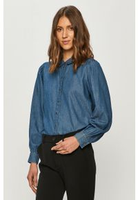Niebieska koszula Jacqueline de Yong klasyczna, długa