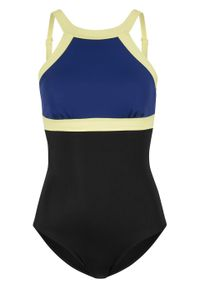Czarny strój kąpielowy jednoczęściowy bonprix z wyjmowanymi miseczkami