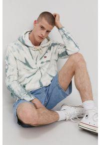 Levi's® - Levi's - Bluza bawełniana. Okazja: na co dzień, na spotkanie biznesowe. Kolor: zielony. Materiał: bawełna. Wzór: aplikacja. Styl: biznesowy, casual