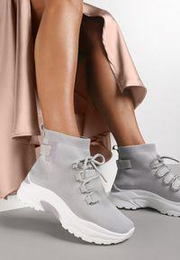 Renee - Szare Sneakersy Eloela. Kolor: szary