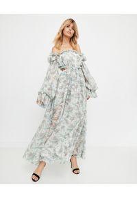 Brązowa sukienka wakacyjna, maxi