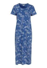 Cellbes Koszula nocna z krótkim rękawem niebieski we wzory female niebieski/ze wzorem 34/36. Kolor: niebieski. Materiał: jersey. Długość: krótkie