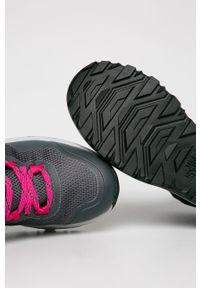 Czarne buty trekkingowe The North Face z cholewką, z okrągłym noskiem, na sznurówki