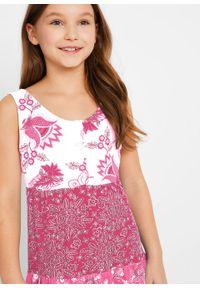 Letnia sukienka dziewczęca bonprix biel wełny - jeżynowo-czerwony. Kolor: biały. Materiał: wełna. Sezon: lato #4
