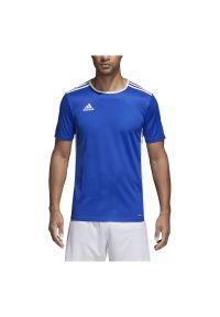 Adidas - Koszulka piłkarska męska adidas Entrada 18 CF1037. Materiał: dzianina, skóra, materiał, poliester. Technologia: ClimaLite (Adidas). Wzór: ze splotem. Sport: piłka nożna