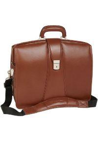 Teczka na laptopa MCKLEIN Harrison 17 cali Brązowy. Kolor: brązowy. Materiał: skóra, materiał. Styl: klasyczny, elegancki
