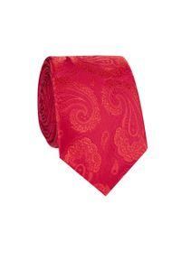 Czerwony krawat Giacomo Conti w kolorowe wzory, elegancki